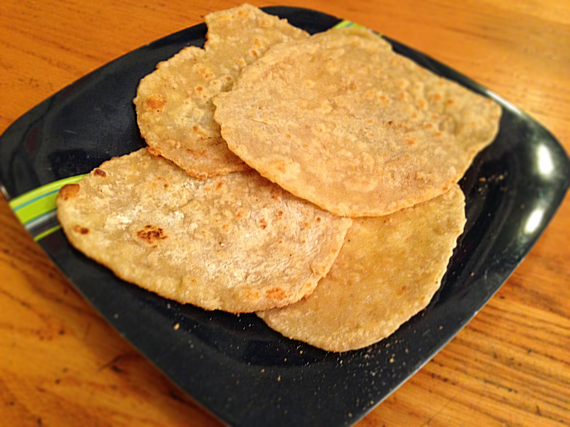 My first attempt at making popchop tortillas